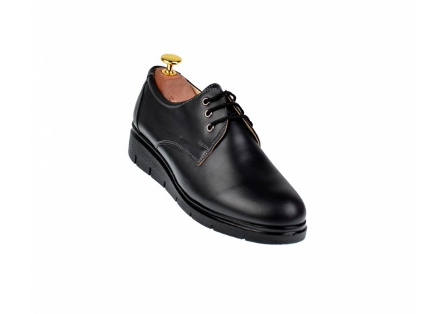 Pantofi dama casual din piele naturala box - MIONBOX