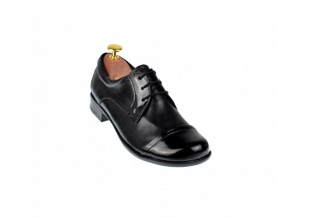 Pantofi dama negri casual din piele naturala P10NNBOXLAC