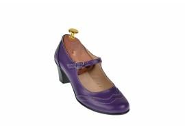Pantofi dama grena, eleganti, din piele naturala - P104MOV