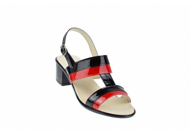 Oferta marimea 35, 36 - Sandale dama din piele naturala cu toc de 5cm - LS7NR