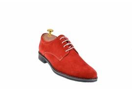 Pantofi barbati rosii, casual - eleganti din piele naturala intoarsa - PAVELR
