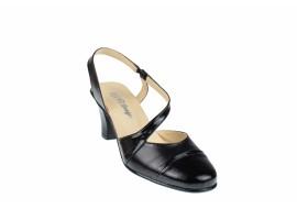 Pantofi dama decupati din piele naturala, cu toc de 7cm - S12NLAC