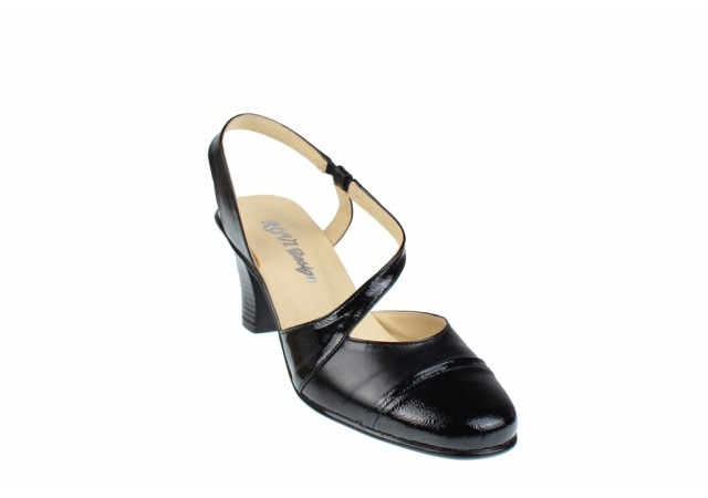 Lichidare marimea 38 - Pantofi dama decupati din piele naturala, cu toc de 7cm - LS12NLAC