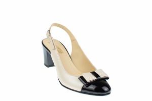 Oferta marimea 36 Pantofi dama eleganti, decupati, din piele naturala - L157NLBEJ