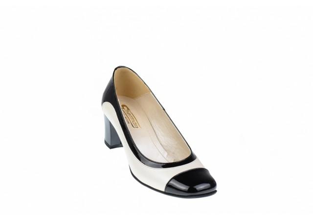 Lichidare marimea 35 Pantofi dama eleganti, din piele naturala cu toc de 5cm - L76NLB