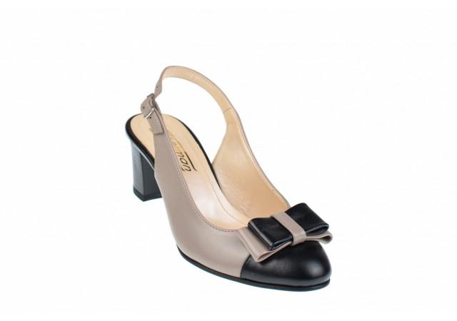 Lichidare marimea 35 Pantofi dama eleganti, decupati, din piele naturala - L156NLTAUPE