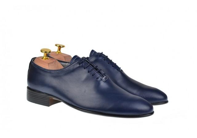 Pantofi barbati eleganti bleumarin din piele naturala - ENZOBLBOX