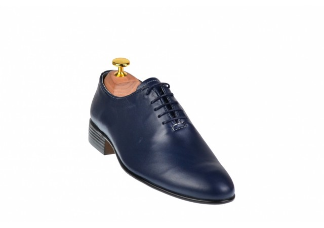 Lichidare marimea 39, 41, 44 Pantofi barbati eleganti bleumarin din piele naturala - LENZOBLBOX