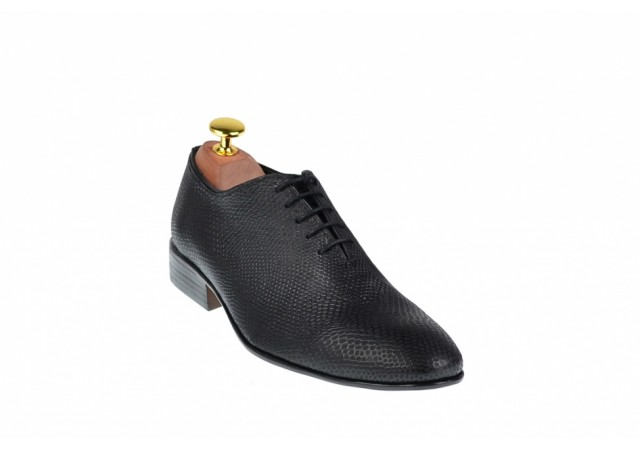Pantofi barbati lux, eleganti din piele naturala negri, EL PATRON, 024CROCOMIC