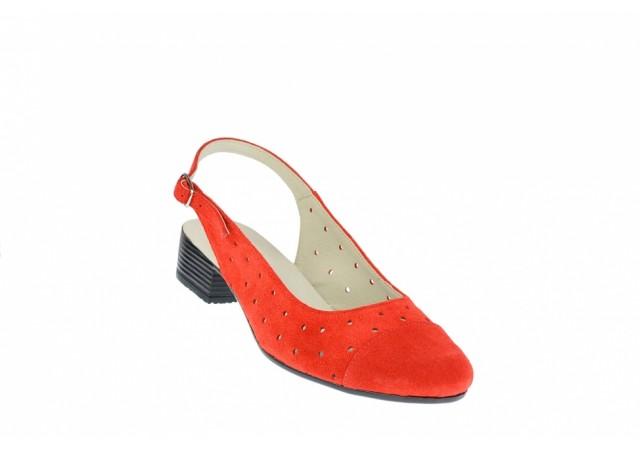 Pantofi dama casual din piele naturala din piele intoarsa NA252CORAIS