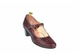 Pantofi dama eleganti din piele naturala grena - P104G