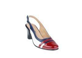 Pantofi dama decupati si eleganti din piele naturala, toc de 5 cm - S301GABL