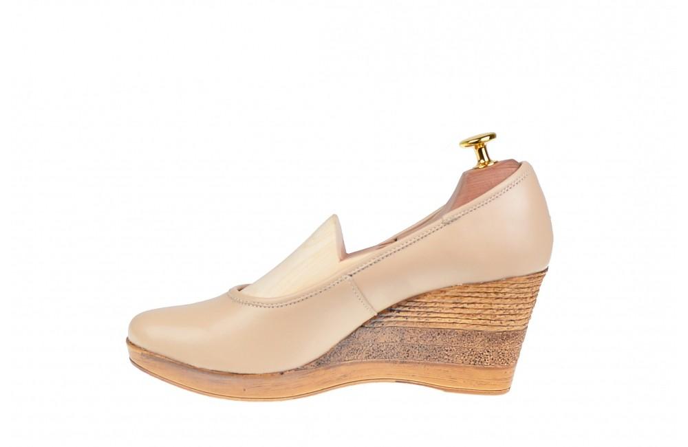 Pantofi dama eleganti din piele naturala cu toc de 7 cm