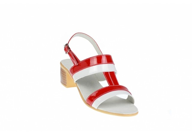 Sandale dama din piele naturala cu toc de 5cm - S7AR