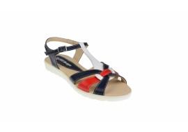 Oferta marimea 38, 39 - Sandale dama din piele naturala cu platforme joase - LS51BLAR