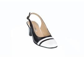 Pantofi dama eleganti, decupati, din piele naturala, toc de 5 cm - S301AN