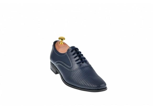 Pantofi barbati eleganti din piele naturala, cu siret - CIOCSTEFBLMMATRIX