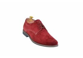 Pantofi barbati casual din piele naturala intoarsa, culoare visiniu - PA2V