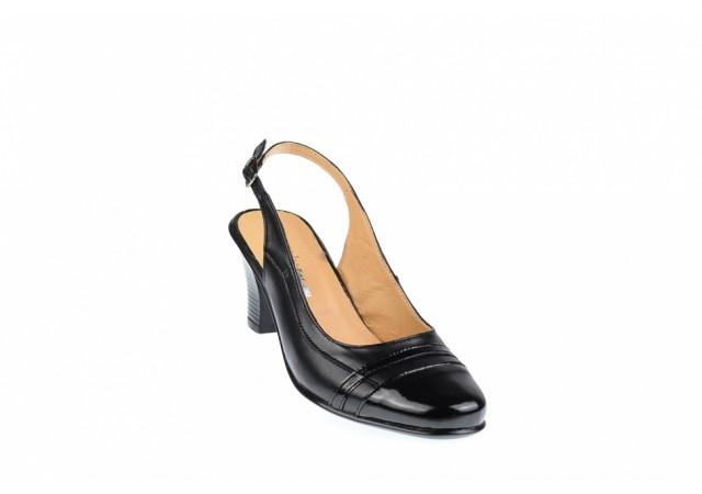 Oferta marimea 37 - Pantofi dama eleganti, decupati din piele naturala - Made in Romania LS301NLAC