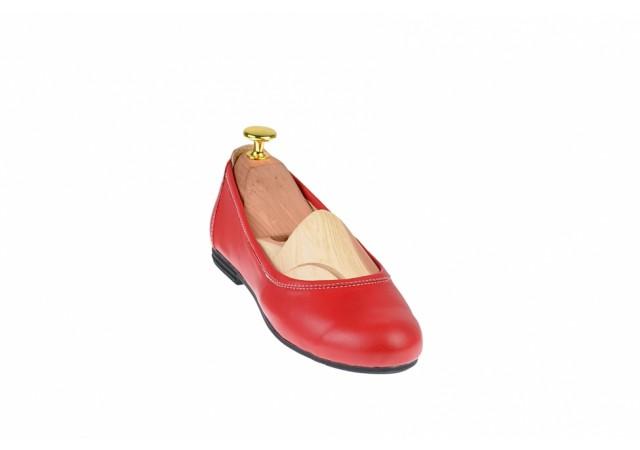 Balerini dama rosii, casual din piele naturala - FLO2ROSU