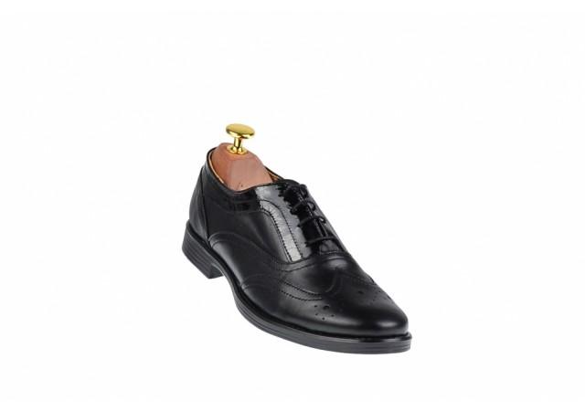 Pantofi dama negri casual din piele naturala - P29N2L