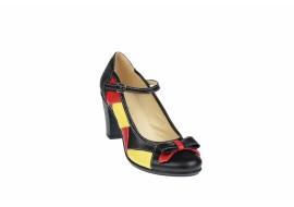 Oferta marimea 37 -  Pantofi dama eleganti din piele naturala, toc de 7cm - LP13423NRG