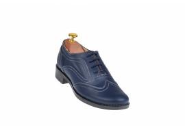 Oferta marimea 37 - Pantofi dama bleumarin casual din piele naturala - LP29BLBOX