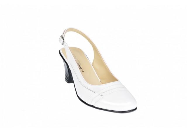 Oferta marimea 37, 38, 39 Pantofi dama decupati, eleganti, din piele naturala, cu toc - LS301AA