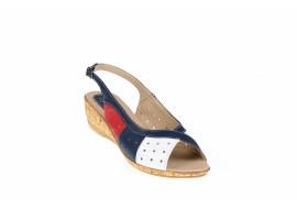 Oferta marimea 40 Sandale dama din piele naturala, cu platforma joasa - LSMALTARABL