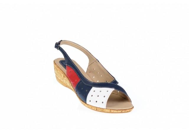Sandale dama din piele naturala, cu platforma joasa - SMALTARABL