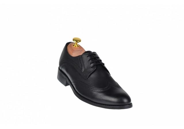 Pantofi barbati, derbi - eleganti din piele naturala 749N