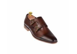 Pantofi barbati maro - eleganti din piele naturala - ELION17M