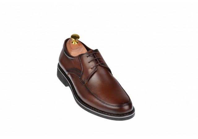 Pantofi barbati maro - eleganti, din piele naturala - ELION12M