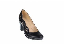 Pantofi dama piele naturala, de culoare neagra - eleganti - Made in Romania P13423NLAC