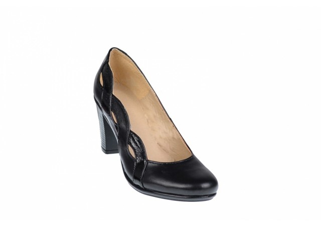 Pantofi dama piele naturala, de culoare neagra - eleganti - Made in Romania P134233NLAC