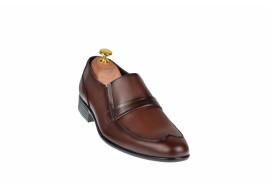 Pantofi barbati maro - eleganti din piele naturala - ELION13M