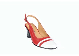 Pantofi dama decupati, eleganti, din piele naturala, cu toc - S301AR