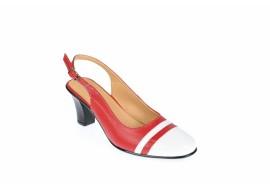 Oferta marimea 38 Pantofi dama decupati, eleganti, din piele naturala, cu toc - LS301AR