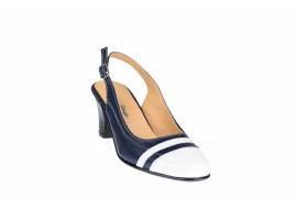 Pantofi dama decupati, eleganti, din piele naturala, cu toc - S301ABL