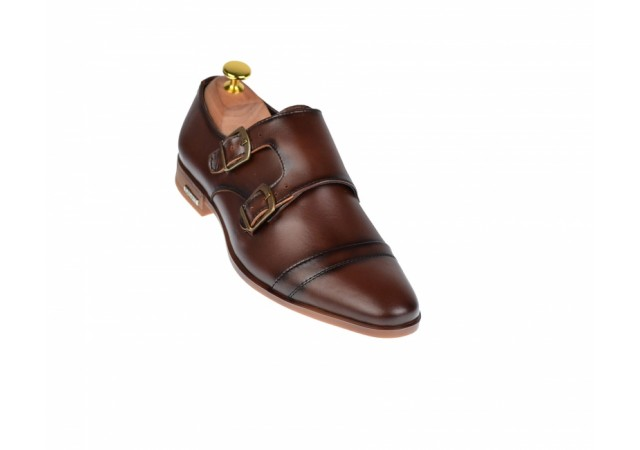 Pantofi barbati maro - eleganti din piele naturala - ELION15M