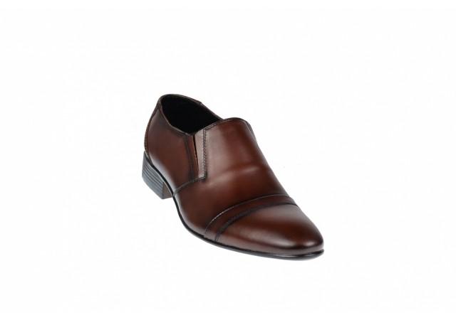 Pantofi barbati maro - eleganti din piele naturala - ELION7M