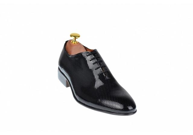 Pantofi barbati office, eleganti din piele naturala - CARLOS 026NLAC
