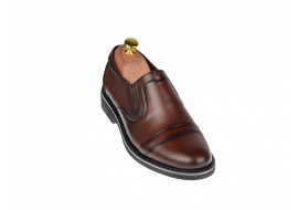 Pantofi barbati eleganti din piele naturala maro - cod ELION8M