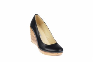 Pantofi dama casual din piele naturala, platforme de 7 cm - MARA P3550N