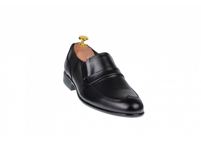 Pantofi barbati negri - eleganti din piele naturala - ELION13N