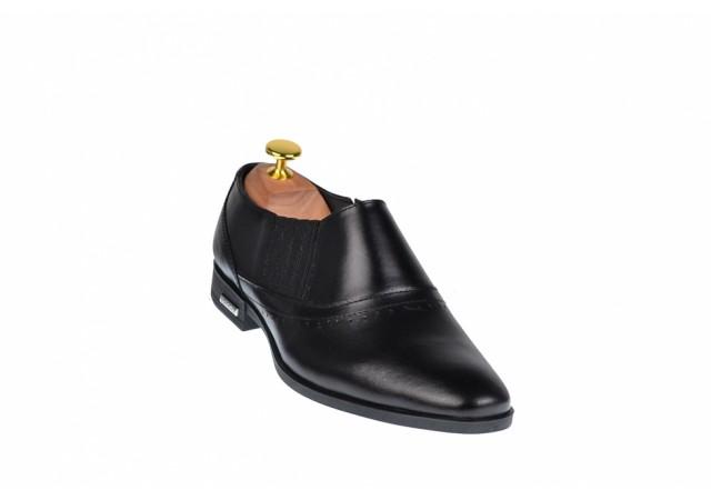 Pantofi barbati negri - eleganti din piele naturala - ELION4N