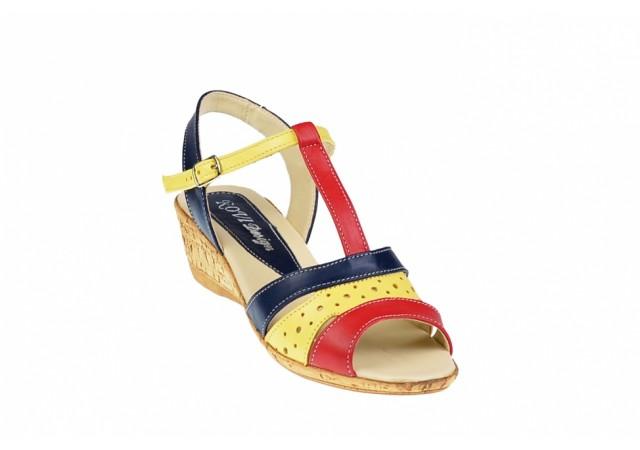 Sandale dama din piele naturala cu platforme de 7 cm - S40GBR