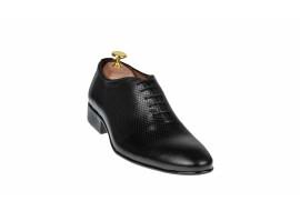 Pantofi barbati eleganti din piele naturala box - CARLOS 026NPERF