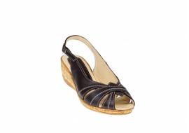 Oferta marimea 36 Sandale dama din piele naturala toc 4cm - LS52M