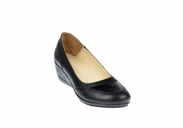 Pantofi dama piele naturala cu platforma - Made in Romania P12N